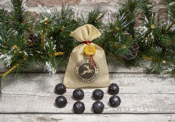 Christmas 'Coal' Truffles by Xocolate