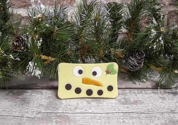 Christmas Snowman White Chocolate Bar by Xocolate