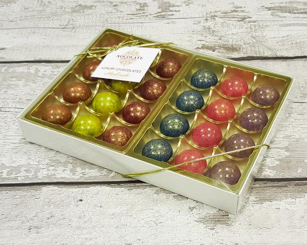 The Ambassadors Collection box of 24 chocolates by Xocolate