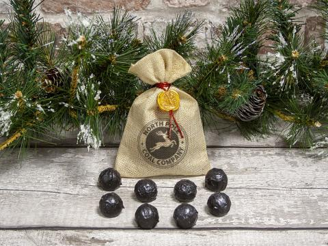 Christmas 'Coal' Truffles by Xocolate