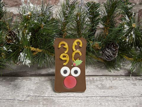 Christmas Reindeer Chocolate Bar by Xocolate