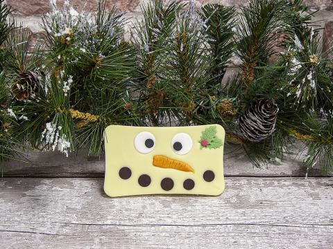 Christmas Snowman White Chocolate Bar by Xocolate